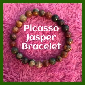 Beautiful Picasso Jasper Bracelet